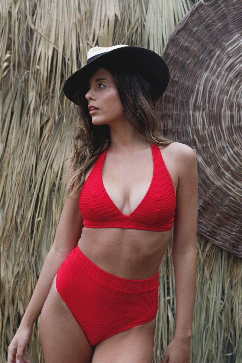 Stephanie Red Halter-0